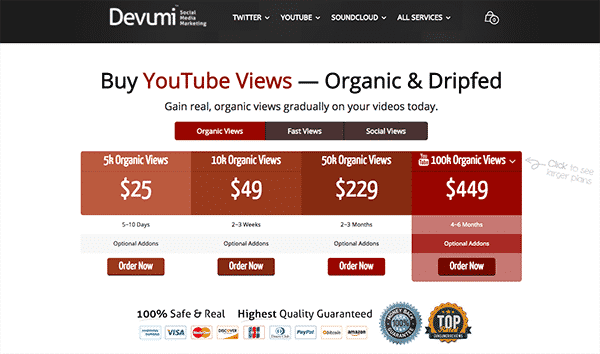 Devumi YouTube Screenshot