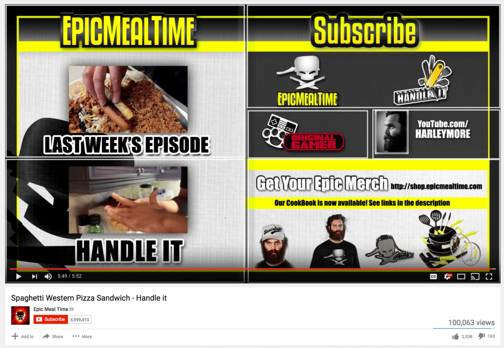 epicmealtime end card