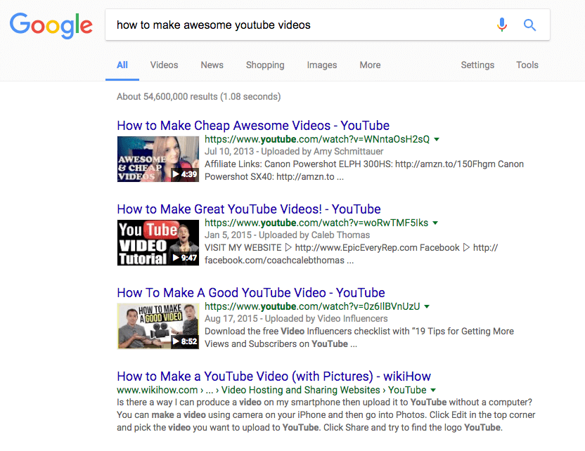 youtube-google-serps