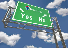 decide yes no