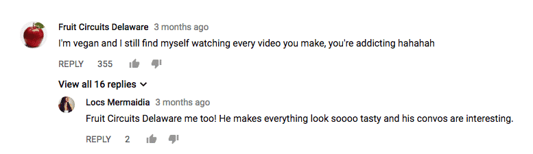 mukbang comment