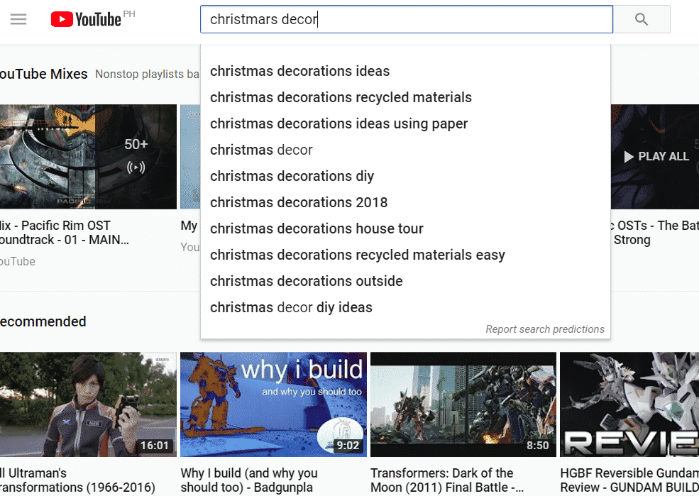 youtube autocomplete tag examples